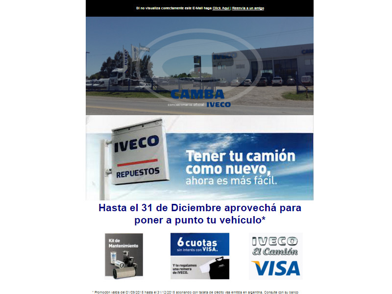 Camba Iveco Email Marketing